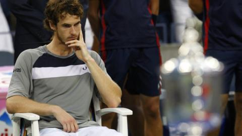 Andy Murray at US Open in 2008