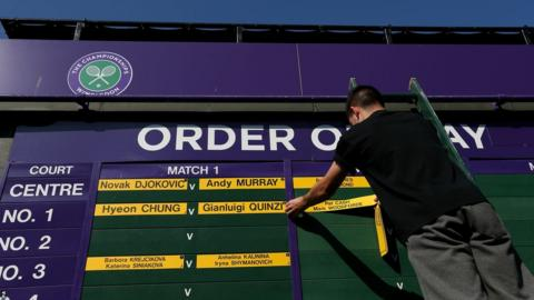 Order of play at Wimbledon