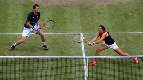 Andy Murray (left) and Laura Robson