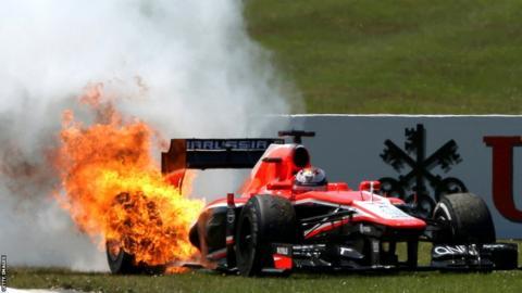 Marussia fire