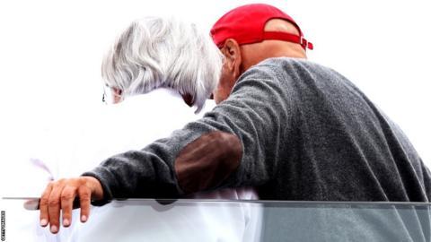 Bernie Ecclestone and Niki Lauder
