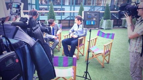 Andy Murray on BBC Breakfast