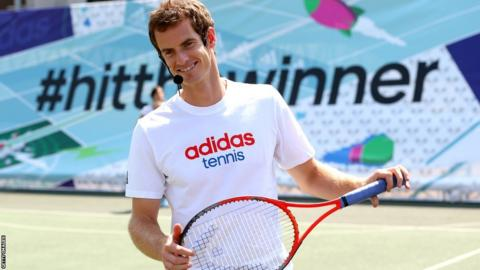 Andy Murray at sponsor's event