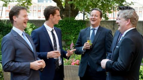 Andy Murray at Downing Street
