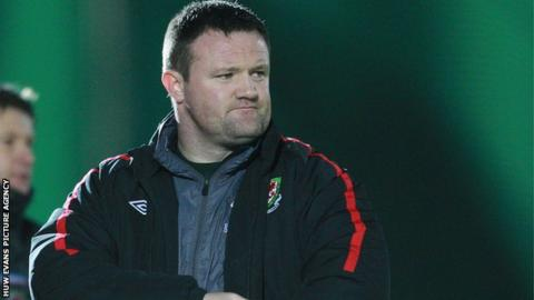 Barry Town manager Gavin Chesterfield