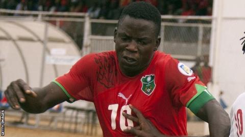 Malawi captain Joseph Kamwendo