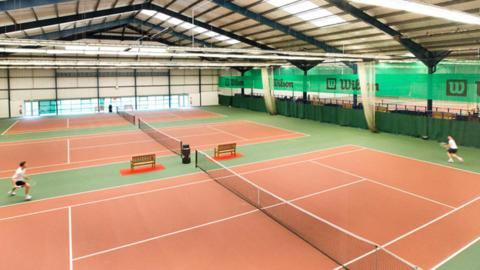 Cardiff indoor tennis centre . Pic: Virgin Active