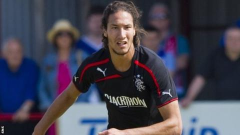 Belel Mohsni in action for Rangers