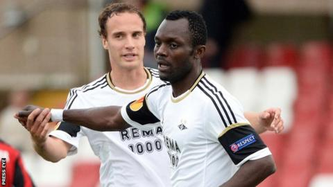 John Chibuike scored twice for Rosenborg