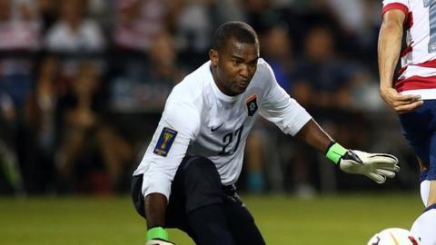 Belize goalkeeper Woodrow West