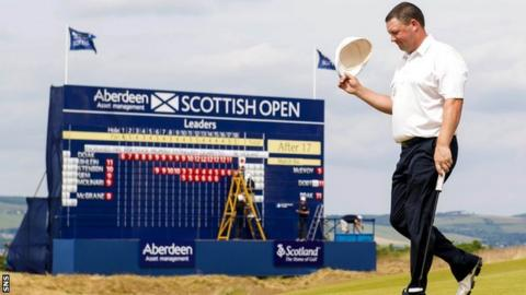 Chris Doak at the Scottish Open