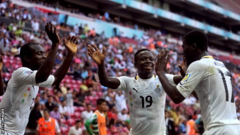 Ghana players celebrate
