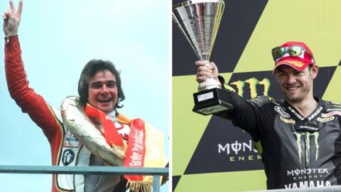 Barry Sheene and Cal Crutchlow