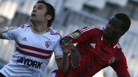 Al Ahly and Zamalek in action