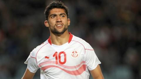 Tunisia midfielder Oussama Darragi