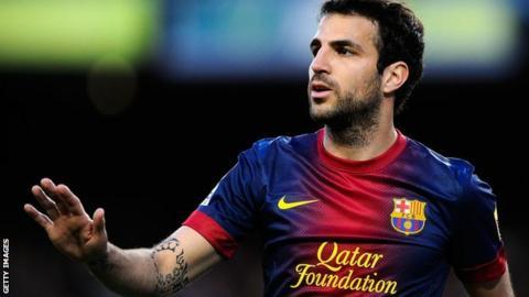 Barcelona midfielder Cesc Fabregas