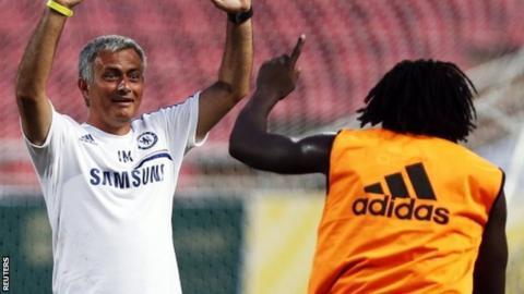 Jose Mourinho (left) and Romelu Lukaku
