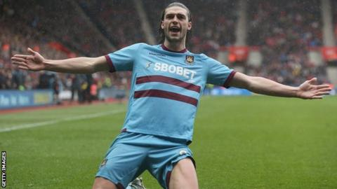 West Ham record signing Andy Carroll