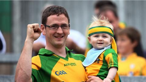 Donegal received support from different generations of fans at St Tiernach's Park