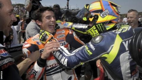 Marc Marquez & Valentino Rossi