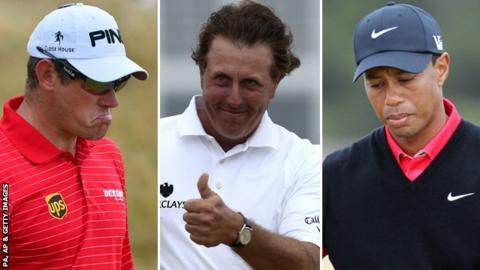 Lee Westwood, Phil Mickelson, Tiger Woods