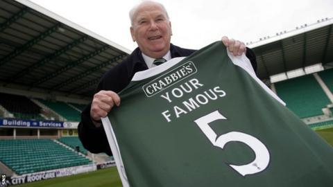 The late Hibs striker Lawrie Reilly