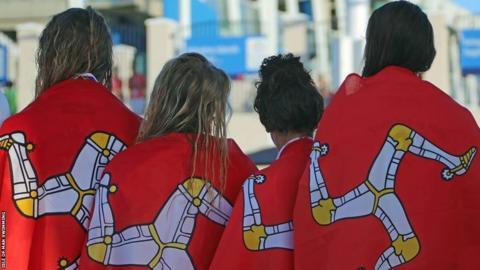 Isle of Man swimming team