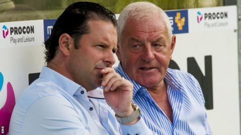 Craig Mather and chairman Walter Smith