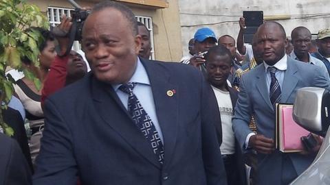 Fifa Normalisation Committee President Joseph Owona (left)