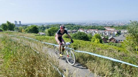Cathkin Braes provides tremendous views - weather permitting - across Glasgow from the south side