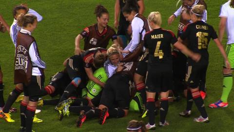 Germany celebrate win over Sweden