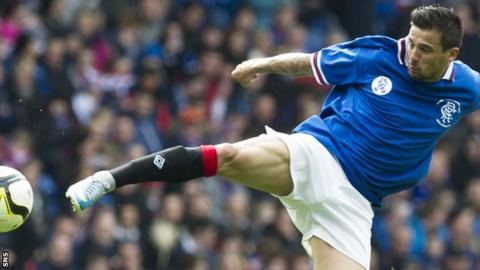 Nacho Novo guests for Rangers in a charity match