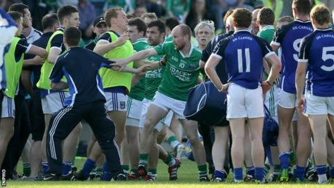 The scuffle took place at Breffni Park