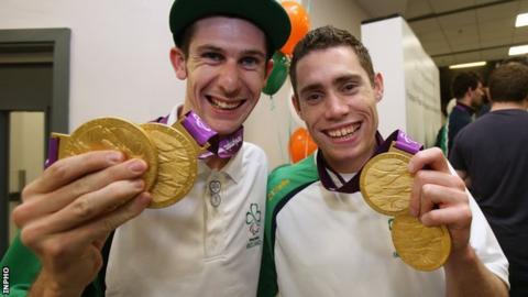 Irish Paralympians Michael McKillop and Jason Smyth