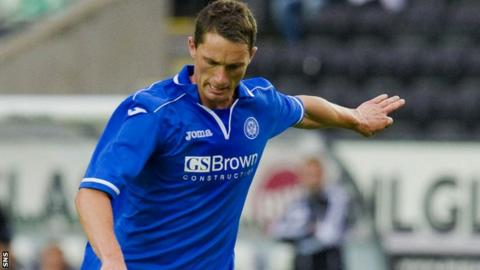 St Johnstone midfielder Gary McDonald