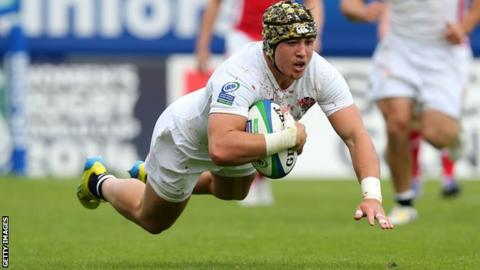 Jack Nowell in action for England U20s
