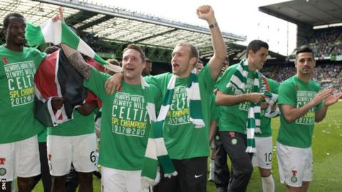 Celtic celebrate their title