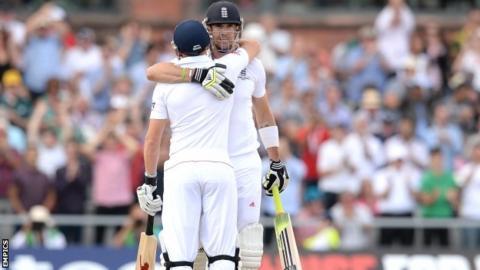 Kevin Pietersen celebrates scoring a century