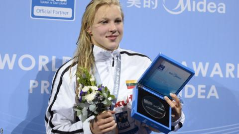 Ruta with her silver medal
