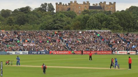 Lumley Castle overlooks the cricket at Chester-le-Street