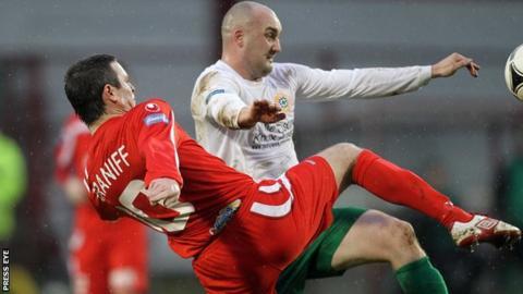 Paul McAreavey in action against Portadown last season