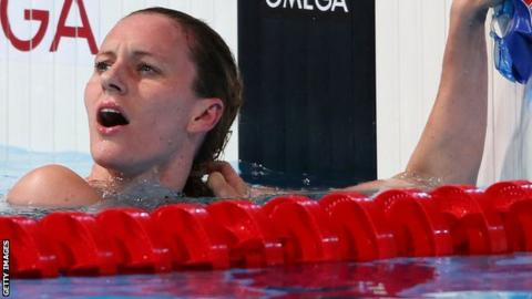 Great Britain's Jaz Carlin narrowly misses bronze in the World Championships 400m Freestyle final
