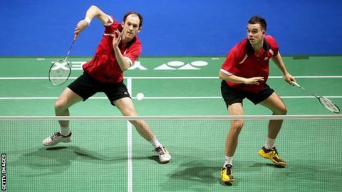 England's Chris Adcock and Andy Ellis
