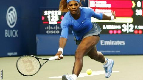 Serena Williams in Rogers Cup action