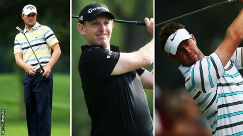 From left: Marc Warren, Stephen Gallacher and Scott Jamieson