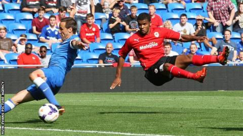 Frazier Campbell scores Cardiff's second goal