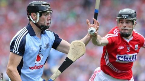 Cork's Shane O'Neill battles with Dublin's Danny Sutcliffe