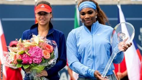 Sorana Cirstea and Serena Williams