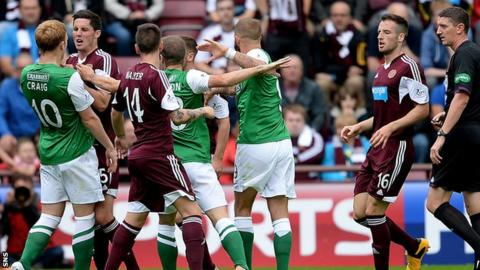 Hibernian lost the Edinburgh derby 1-0 at Tynecastle