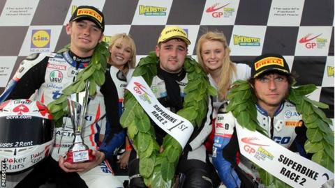 Ulster Grand Prix podium